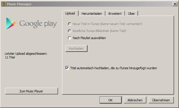 Google Play Music Bevorzugt